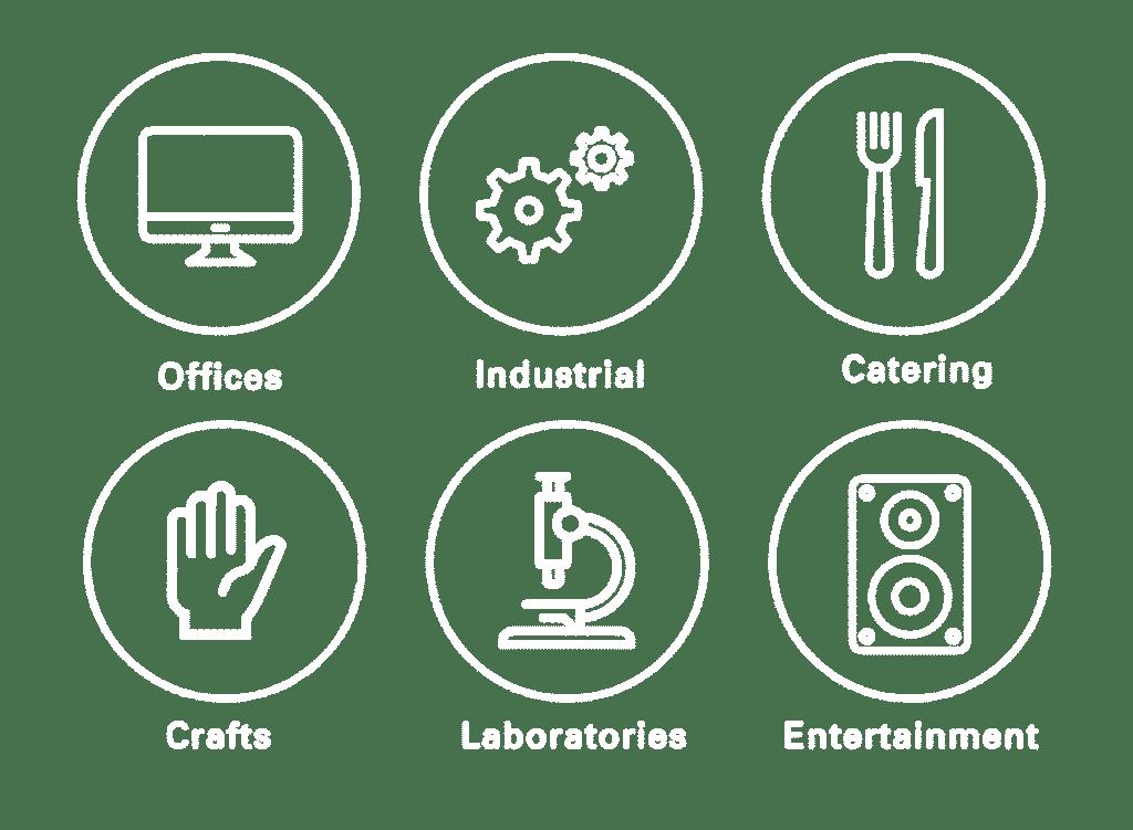 representative logos of the industries we serve