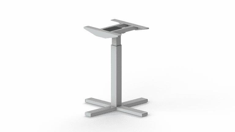 Single column sit stand desk