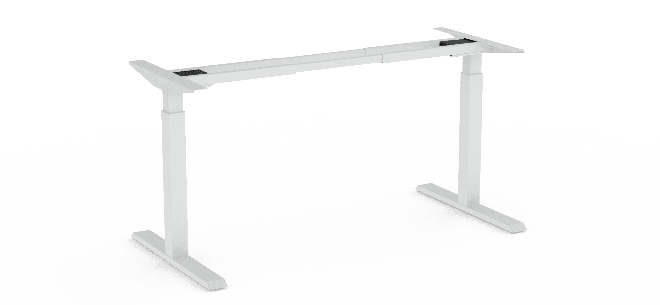 370 white height adjustable table