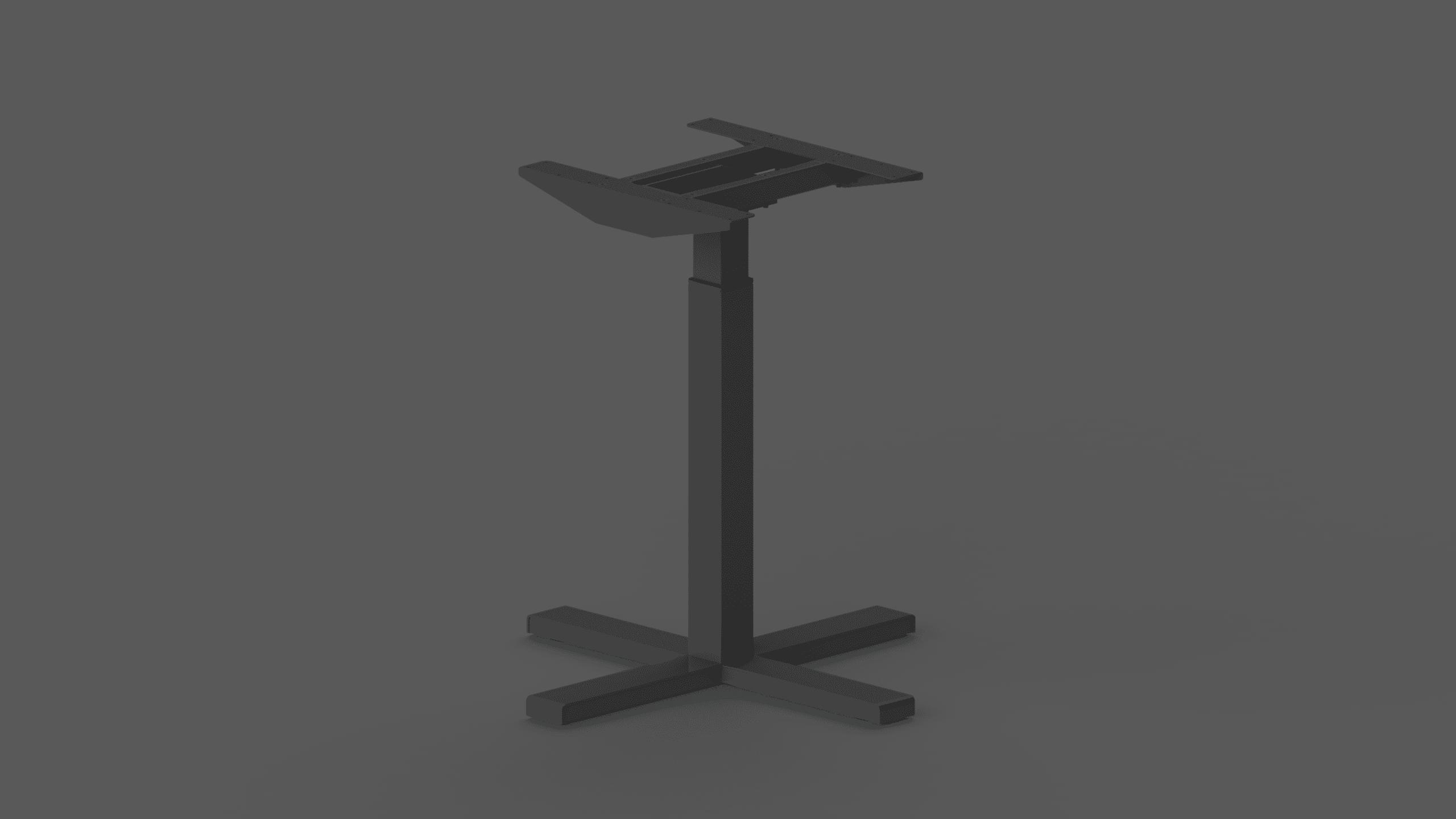 370SC black height adjustable table