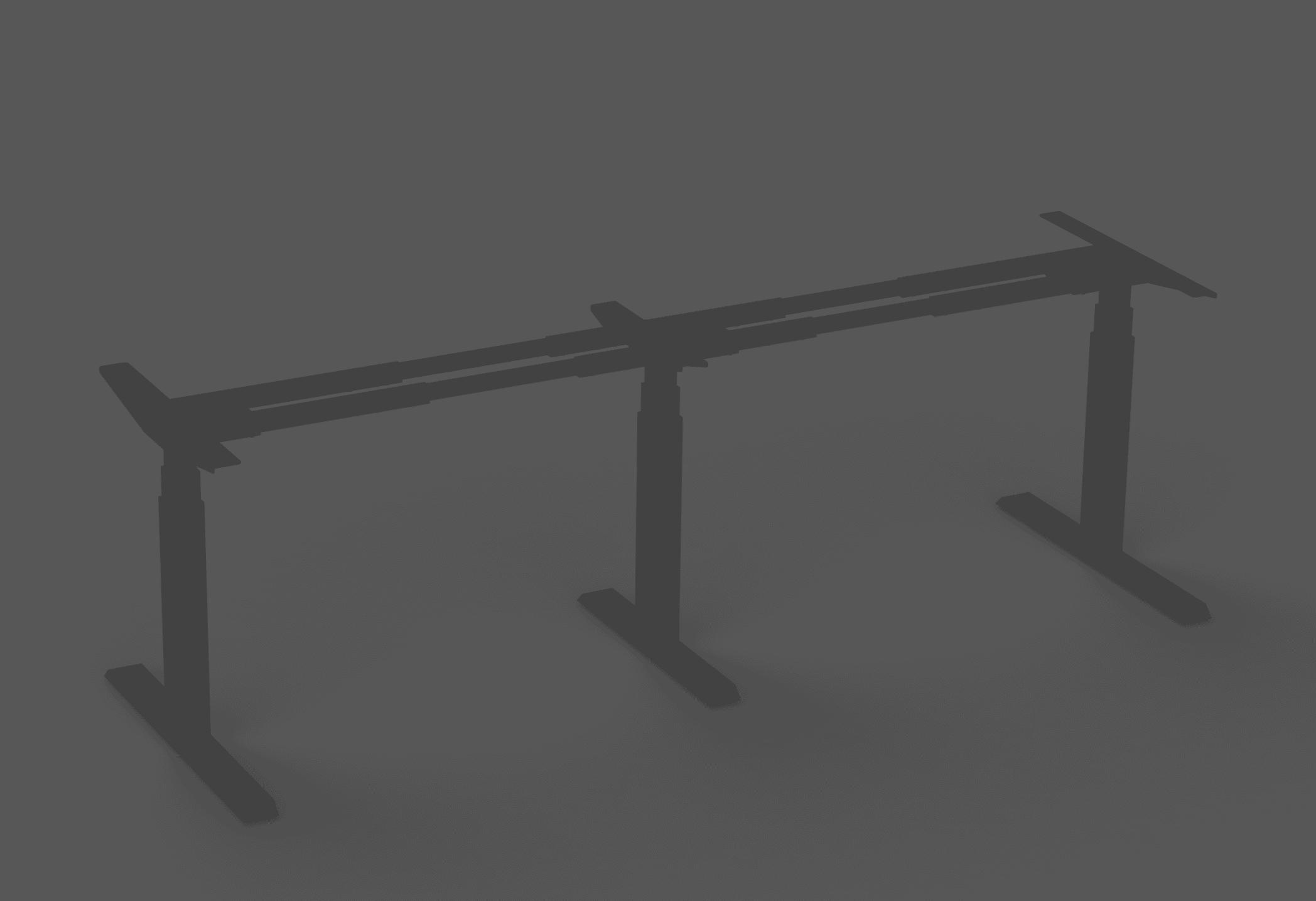 375 black height adjustable table