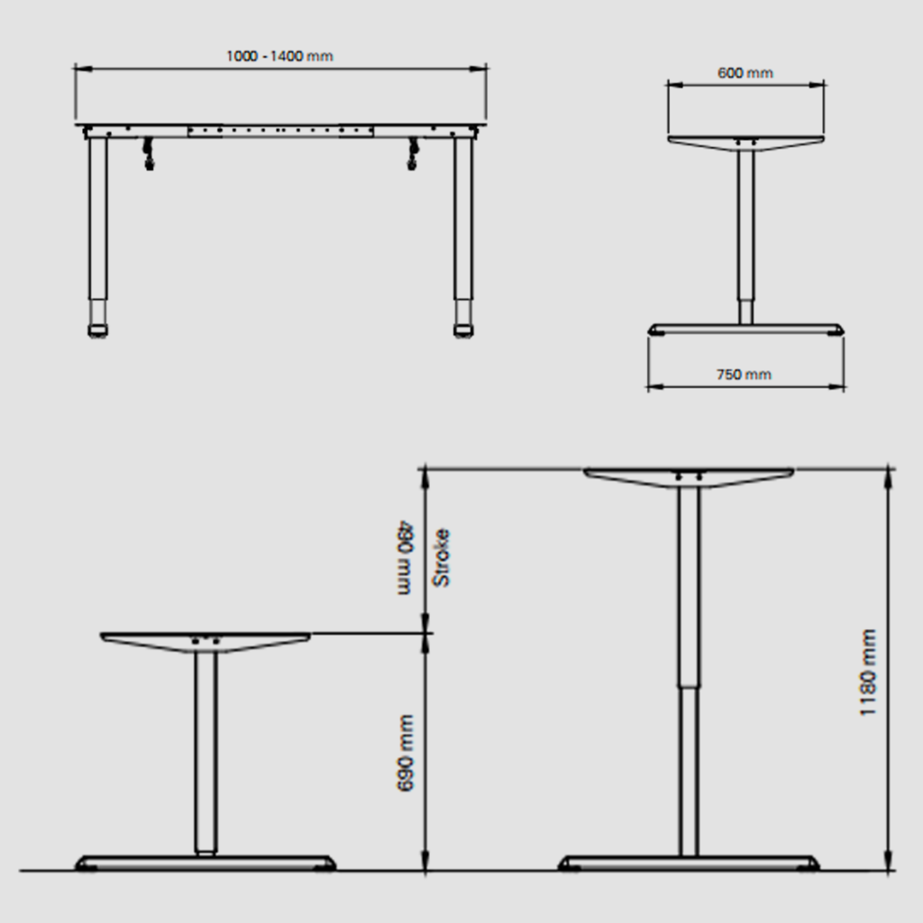 Detailed Specification height adjustable table