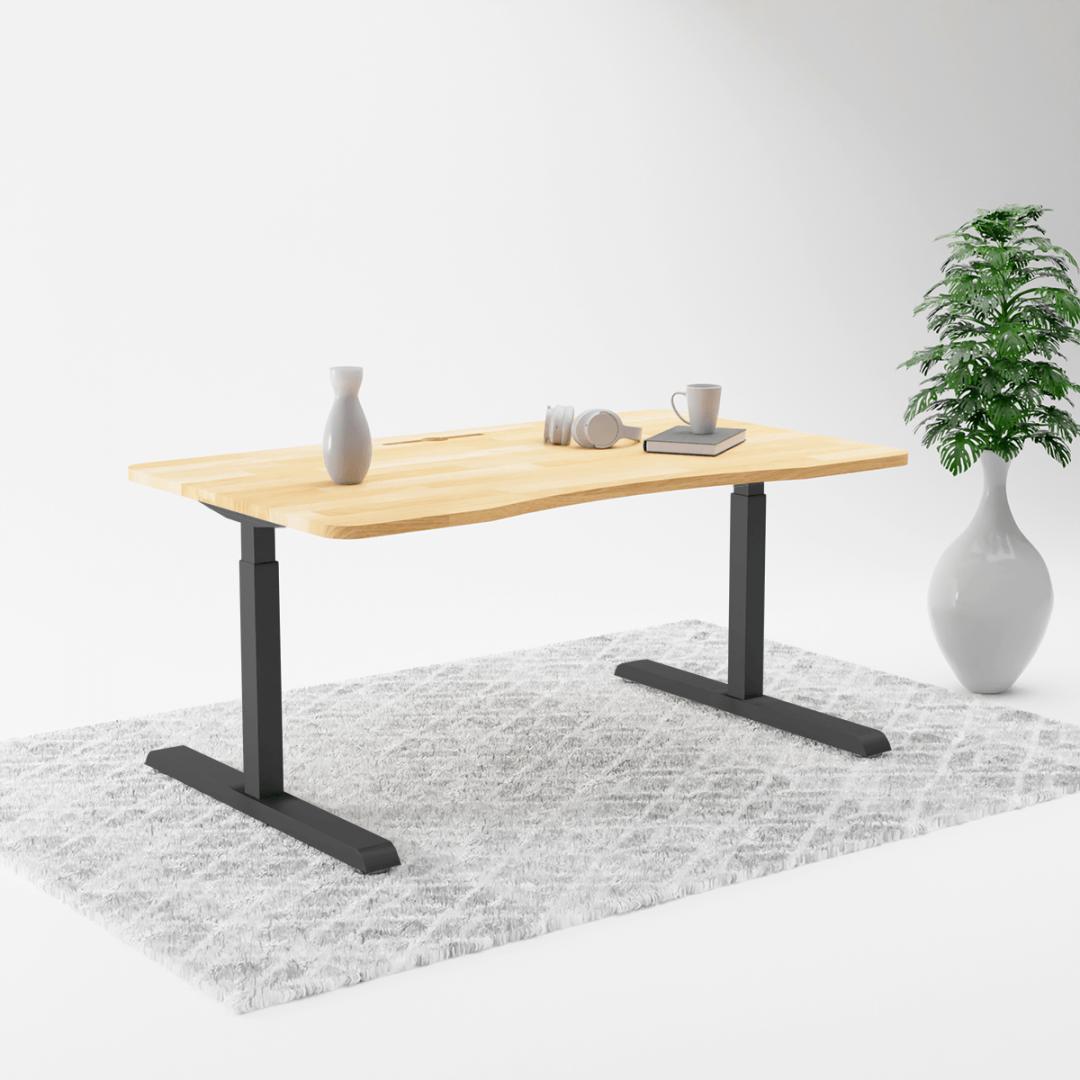 370Black RB 2 height adjustable table